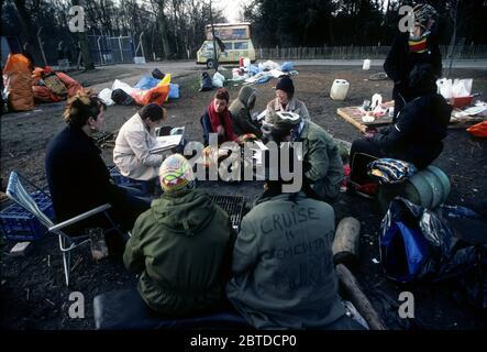 Camp de paix de Greenham, 1982 Banque D'Images