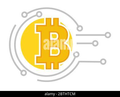 Système virtuel de paiement et d'investissement, crypto-monnaie en bitcoin Banque D'Images