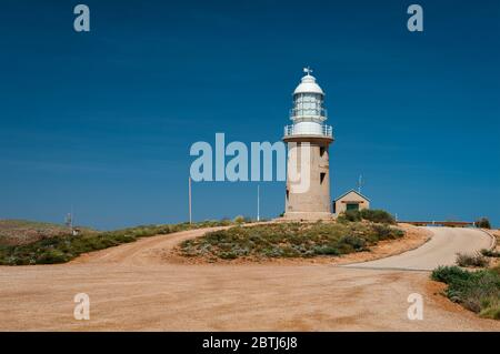 Vlamingh Head Lighthouse à la Coral Coast près d'Exmouth. Banque D'Images
