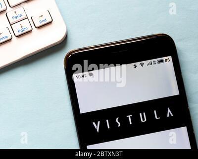 Ukraine. 28 mai 2020. Sur cette photo, un logo Vistule apparaît sur un smartphone. Crédit: Igor Golovniov/SOPA Images/ZUMA Wire/Alamy Live News Banque D'Images