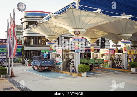 Hsinchu / Taiwan - 15 septembre 2019 : station-service dans la ville taïwanaise