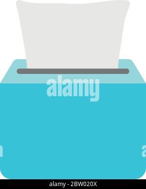 icône de la boîte de mouchoirs sur fond blanc, style plat, illustration vectorielle