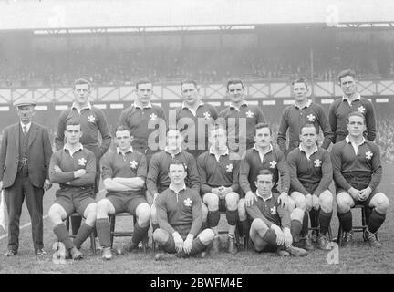 L'Angleterre batte le pays de Galles à Twickenham l'équipe galloise 17 février 1925 Banque D'Images