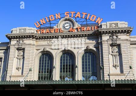 Union Station, Denver, Colorado, États-Unis Banque D'Images