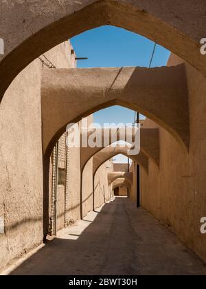 Ruelles dans le vieux quartier. Yazd, Iran.