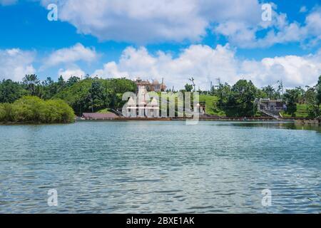 Lac Hindou Saint Ganga Talao, Grand bassin, Maurice, Afrique, Océan Indien. Banque D'Images