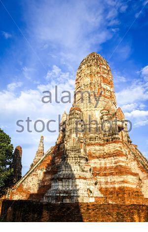 Wat Chaiwatthanaram temple bouddhiste d'Ayutthaya, Thaïlande Banque D'Images