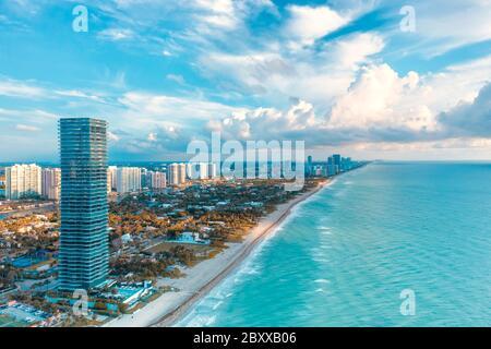 Golden Beach, Floride avant l'ouragan Dorian - 31 août 2019.