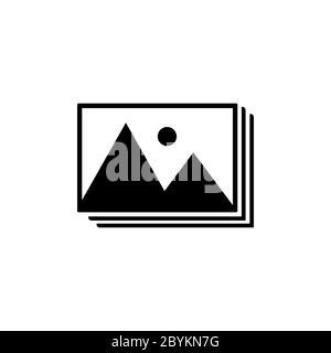 Image, icône d'image en noir conception simple sur un arrière-plan isolé. Vecteur EPS 10. Banque D'Images