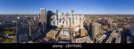 Houston vue aérienne panoramique moderne de la ville dans le centre-ville de Houston, Texas, États-Unis. Banque D'Images