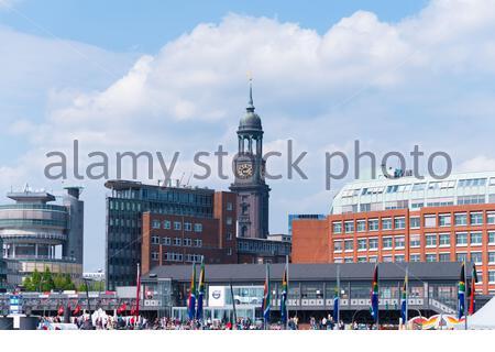 HAMBOURG, ALLEMAGNE - 12 MAI 2018 : Église Saint-Michael, une des cinq principales églises luthériennes de Hambourg et la plus célèbre église de la ville Banque D'Images