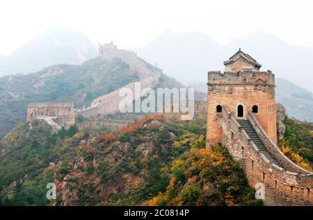 La Grande Muraille de Chine de Jinshanling à Simatai près de Beijing, Chine, Asie. 28/9/2011. Photo: Stuart Boulton/Alay Banque D'Images