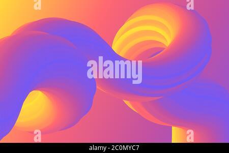 Lignes courbes colorées abstraites arrière-plan vectoriel pour la présentation Banque D'Images