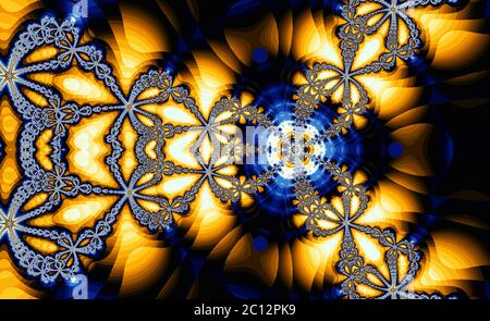 Résumé couleur méditative fond fractal