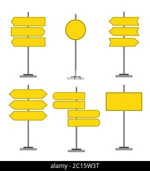 Panneaux de signalisation routière icônes ensemble, panneaux de signalisation, conception vectorielle