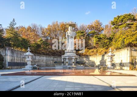 Le Grand Bouddha dans le temple de Bongeunsa, Séoul, Corée du Sud Banque D'Images