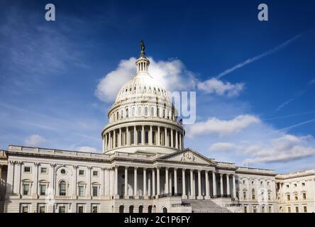 Façade du Congrès des États-Unis sur Capitol Hill, Washington DC