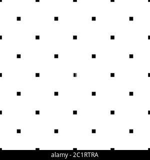 carré vectoriel noir blanc sans couture, quadratique Banque D'Images