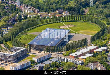 collège Mont-Cenis à Herne, 29.05.2019, vue aérienne, Allemagne, Rhénanie-du-Nord-Westphalie, région de la Ruhr, Herne