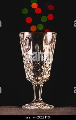 Photographie de la vie. Lumières colorées dans une tasse