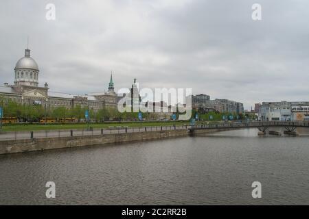 Vue sur la baie de Montréal sur la rivière Saint-Laurent, Montréal, Québec, Canada Banque D'Images