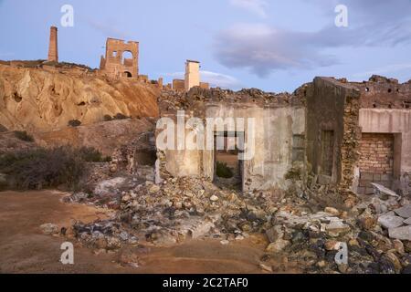 Ruines du complexe minier de Mazarron, Murcie. Espagne Banque D'Images