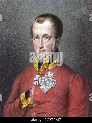FRANÇOIS II, EMPEREUR ROMAIN SAINT (1768-1835) dernier des Empereurs romains Saints Banque D'Images