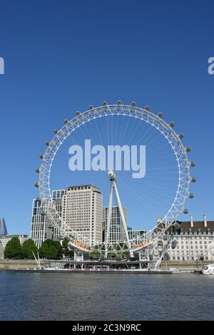 London Eye, Westminster, Londres, Royaume-Uni Banque D'Images