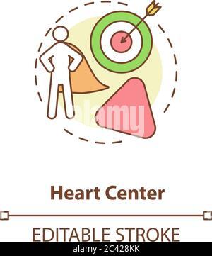 Icône de concept de centre cardiaque Banque D'Images
