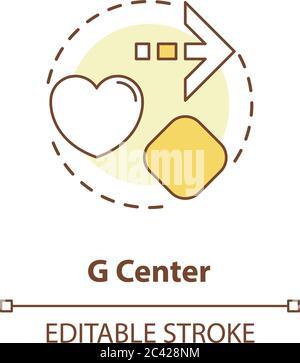 Icône de concept de centre G. Banque D'Images