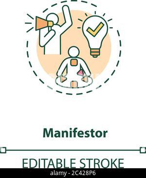 Icône de concept du collecteur Banque D'Images