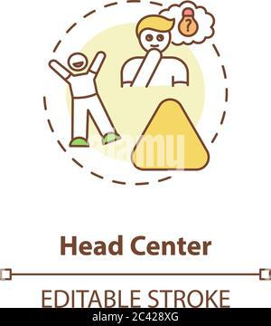 Icône concept de centre de tête Banque D'Images