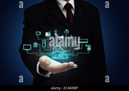 Internet des objets et concept de maison intelligente Banque D'Images
