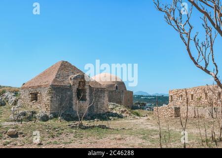 Fortezza Rethymno - Forteresse de Rethymno sur l'île de Crète Banque D'Images