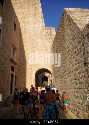 La plus belle et historique vieille ville de Dubrovnik Banque D'Images