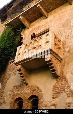 Balcon de Juliette à Vérone en Italie Banque D'Images