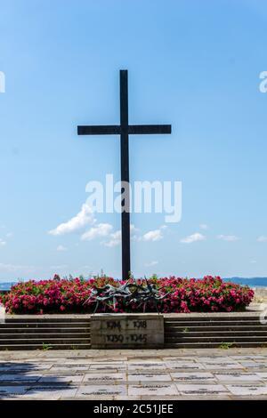 Hagnau, BW / Allemagne - 23 juin 2020 : monument historique aux soldats tombés pendant la Seconde Guerre mondiale à Hagnau, sur le lac de Constance