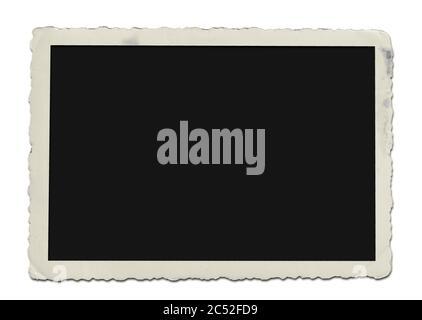 cadre ou bordure photo en papier vintage isolé sur fond blanc