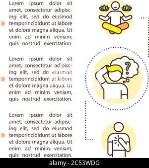 Icône de concept d'auto-compréhension avec texte Banque D'Images