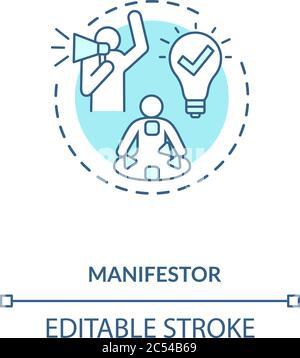Icône de concept du collecteur turquoise Banque D'Images