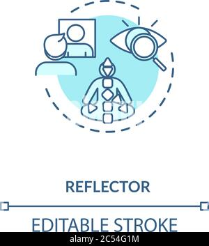 Icône de concept réflecteur turquoise Banque D'Images