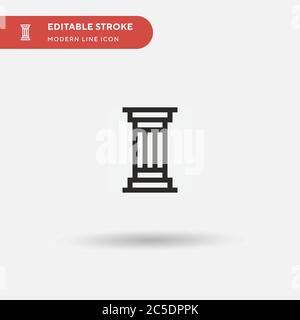 Icône de vecteur simple de colonne. Modèle de conception de symbole d'illustration pour l'élément d'interface utilisateur Web mobile. Pictogramme moderne de couleur parfaite sur contour modifiable. Colonne ic Banque D'Images