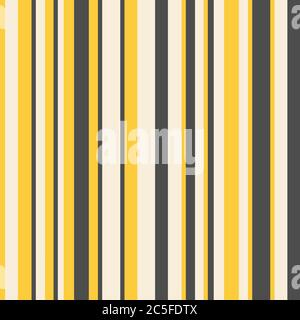 Motif géométrique abstrait rayé, fond vectoriel sans couture de couleurs jaunes. Banque D'Images