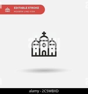 Icône de vecteur simple orthodoxe. Modèle de conception de symbole d'illustration pour l'élément d'interface utilisateur Web mobile. Pictogramme moderne de couleur parfaite sur contour modifiable. Icônes orthodoxes pour votre projet d'entreprise