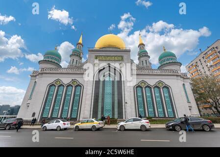 Moscou, Russie. Mosquée de la cathédrale de Moscou, l'une des plus grandes et plus hautes mosquées de la Fédération de Russie et d'Europe