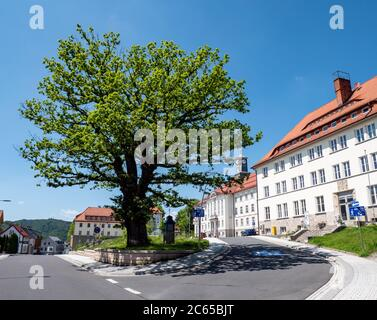 Hôtel de ville de Zella-Mehlis en Thuringe Banque D'Images