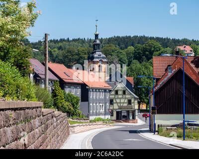 Vieille ville de Zella-Mehlis en Thuringe Banque D'Images
