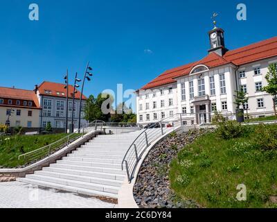 Hôtel de ville de Zella-Mehlis en Thuringe Allemagne Banque D'Images