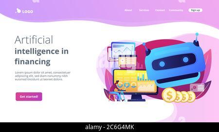 Page d'accueil de l'intelligence artificielle dans le concept de financement. Banque D'Images
