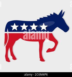 illustration vectorielle isolée symbole de parti démocrate